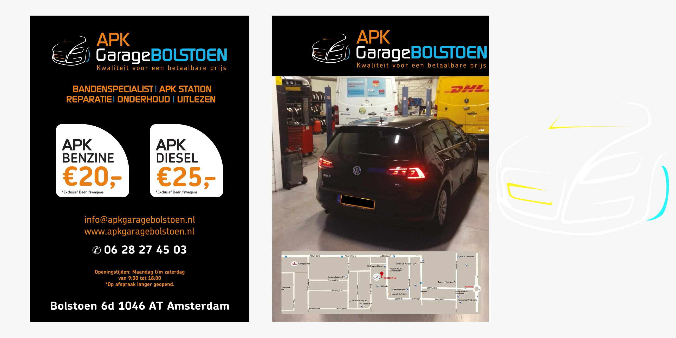 flyer ontwerp autogarage